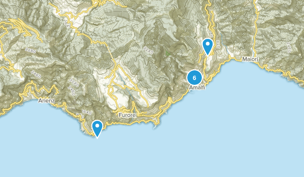 Salerno, Italy Hiking Map