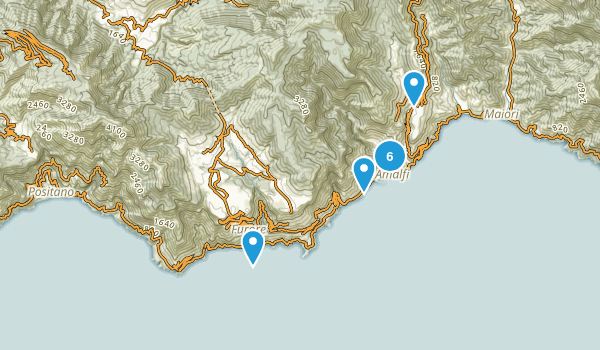 Salerno, Italy Nature Trips Map