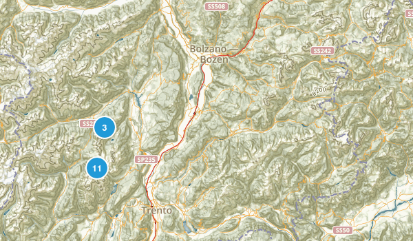 Trento, Italy Backpacking Map