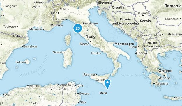 Tuscany, Italy Walking Map