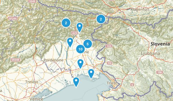 Udine, Italy Hiking Map