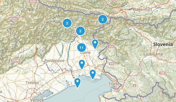 Udine, Italy Walking Map