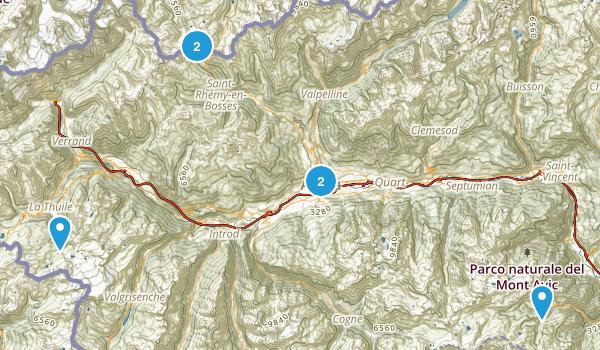 Valle D'Aosta, Italy Birding Map