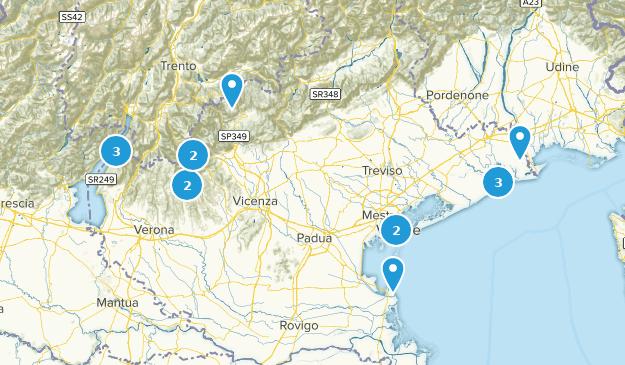 Veneto, Italy Hiking Map