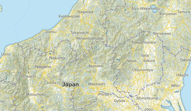 群馬県, Japan Parks Map