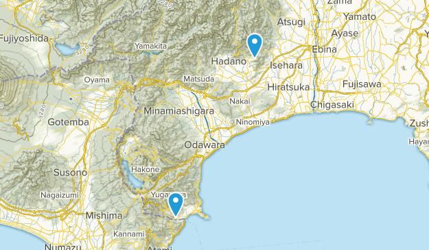 Kanagawa, Japan Parks Map
