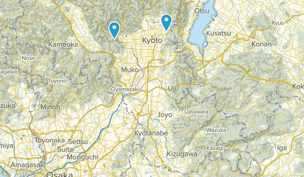 Kyoto, Japan Parks Map
