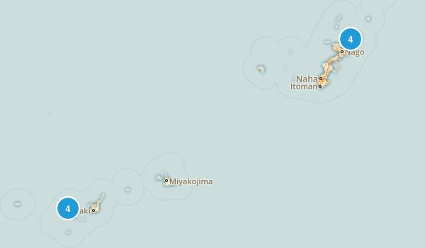 Okinawa, Japan Nature Trips Map