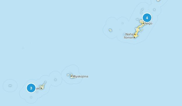 Okinawa, Japan Walking Map