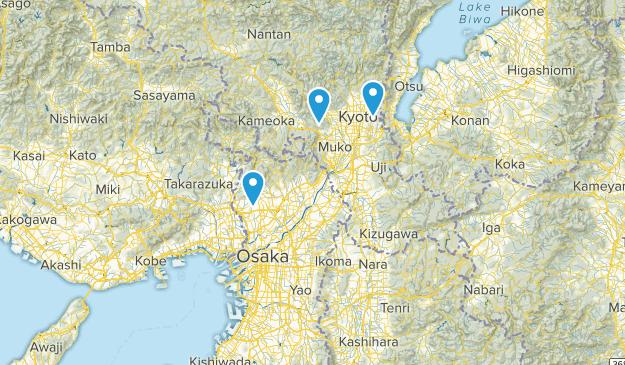Osaka, Japan Parks Map