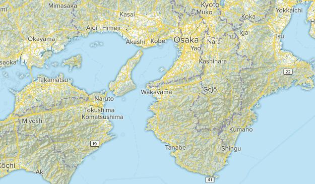Wakayama, Japan Parks Map