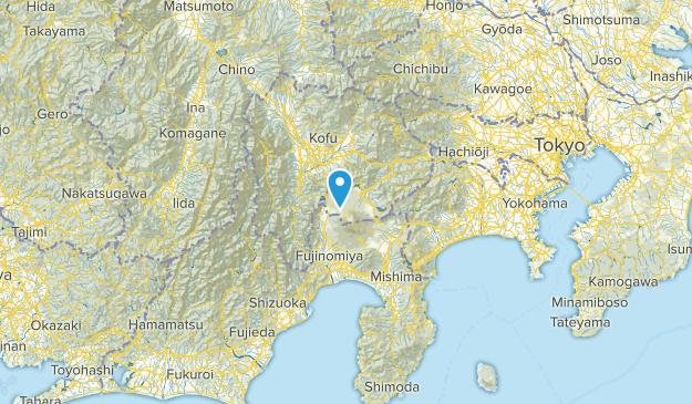 Yamanashi, Japan Parks Map