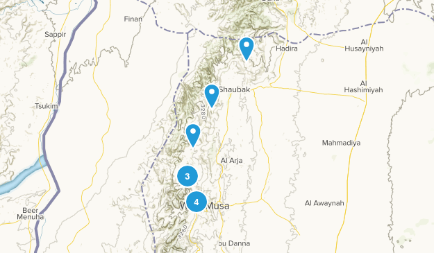 Ma`an, Jordan Hiking Map