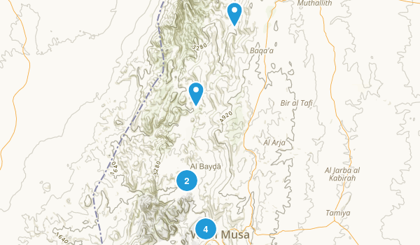 Ma`an, Jordan Nature Trips Map