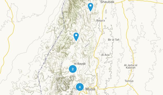 Ma`an, Jordan Nature Trips Map