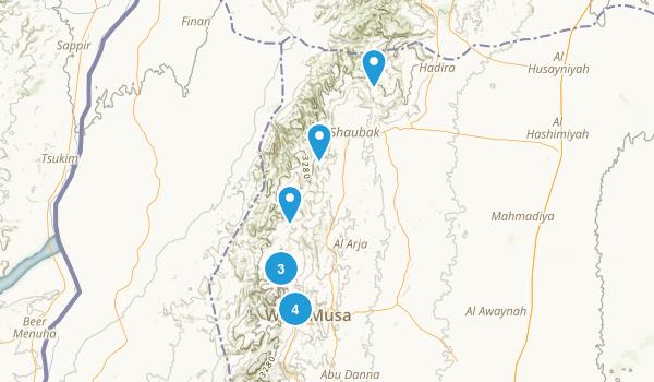 Ma`an, Jordan Walking Map