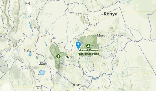 Central, Kenya National Parks Map