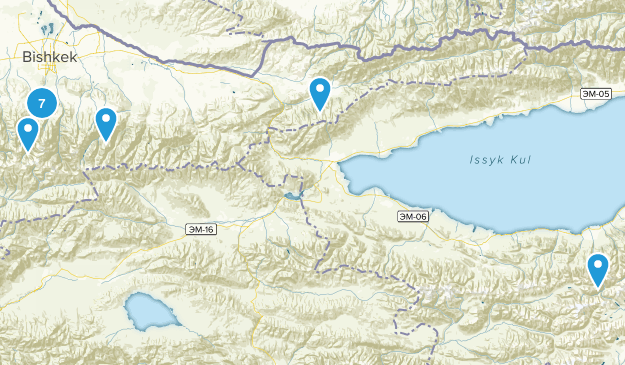 Chuy, Kyrgyzstan Birding Map