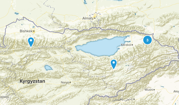 Chuy, Kyrgyzstan Forest Map