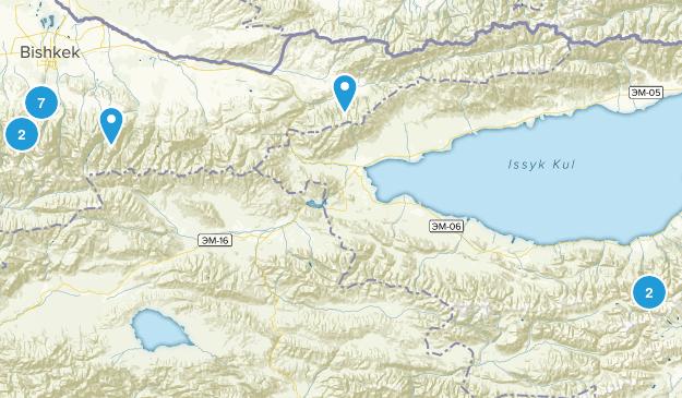 Chuy, Kyrgyzstan Walking Map
