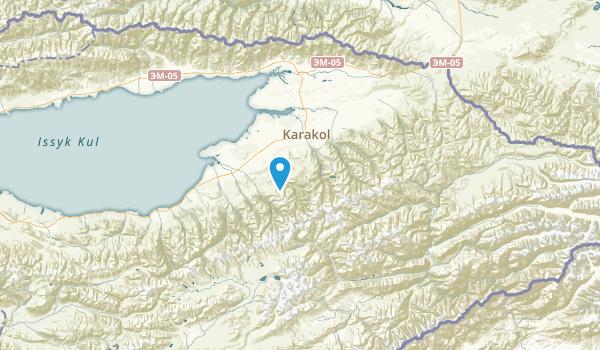 Ysyk-Köl, Kyrgyzstan Parks Map