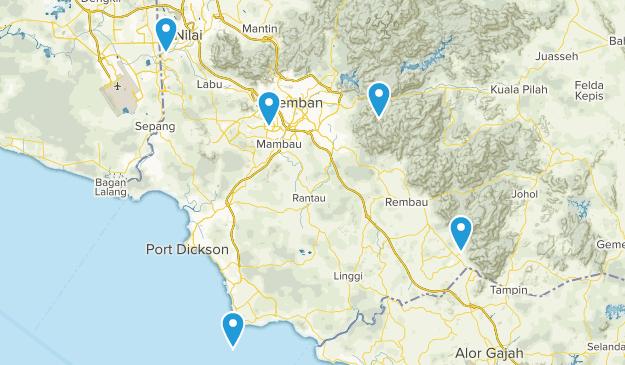 Negeri Sembilan, Malaysia Views Map
