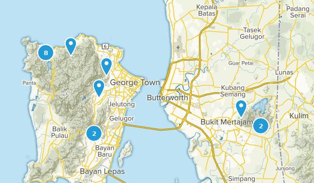 Penang, Malaysia Nature Trips Map