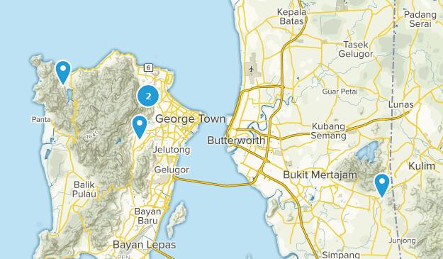 Penang, Malaysia Trail Running Map