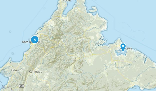 Sabah, Malaysia Forest Map