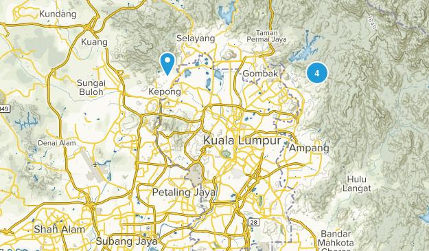 Selangor, Malaysia Trail Running Map