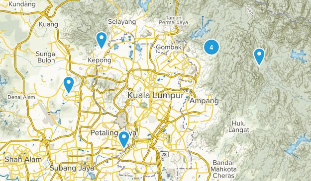 Selangor, Malaysia Walking Map