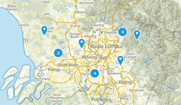 Selangor, Malaysia Wildlife Map