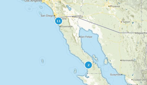 Baja California, Mexico Mountain Biking Map