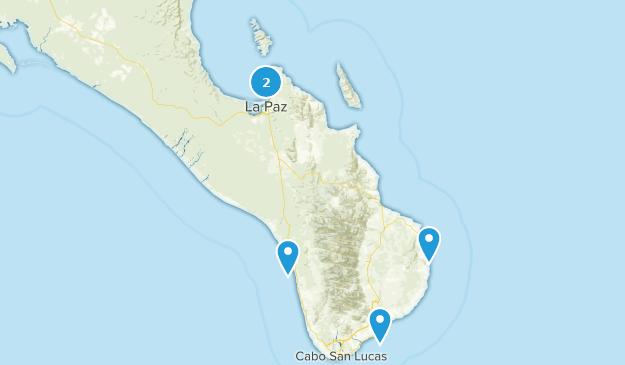 Baja California Sur, Mexico Fishing Map
