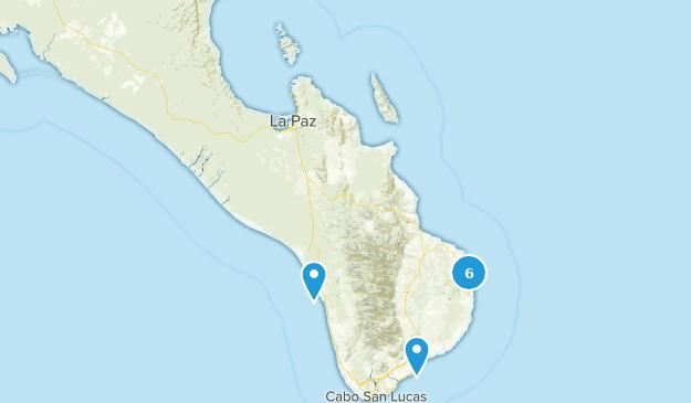 Baja California Sur, Mexico Mountain Biking Map