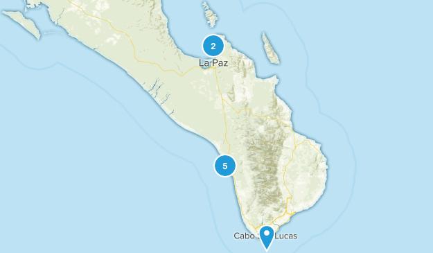 Baja California Sur, Mexico Nature Trips Map