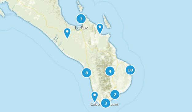 Baja California Sur, Mexico Views Map