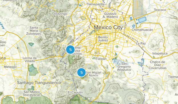 Distrito Federal, Mexico Hiking Map