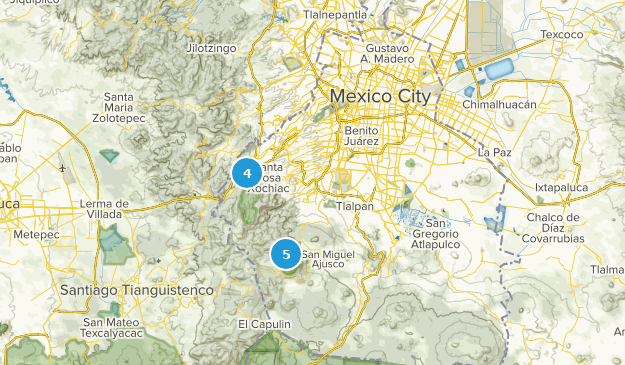 Distrito Federal, Mexico Trail Running Map