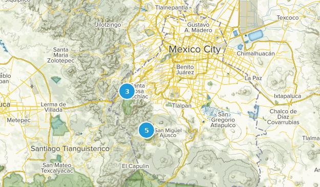 Distrito Federal, Mexico Wildlife Map