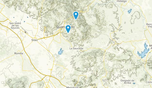 Guanajuato, Mexico Parks Map
