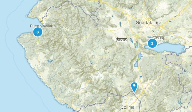 Jalisco, Mexico Hiking Map