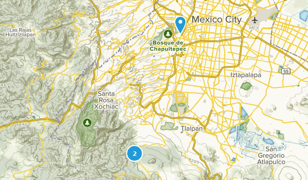 Mexico City, Mexico Parks Map