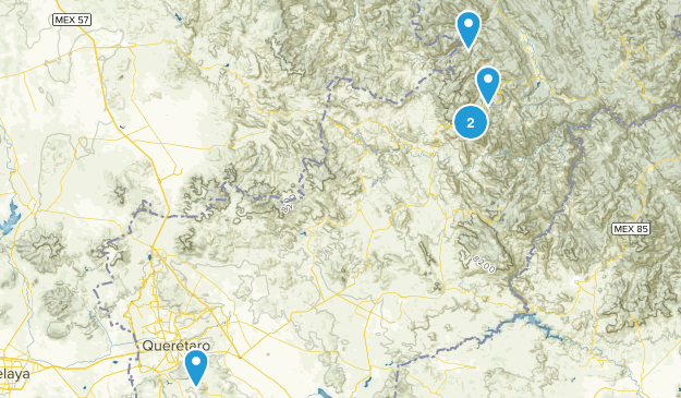 Querétaro, Mexico Forest Map