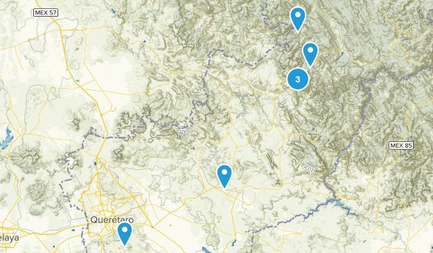 Querétaro, Mexico Hiking Map