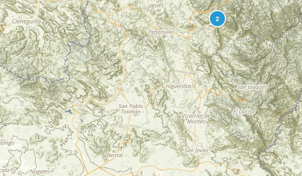Querл╘taro, Mexico Parks Map