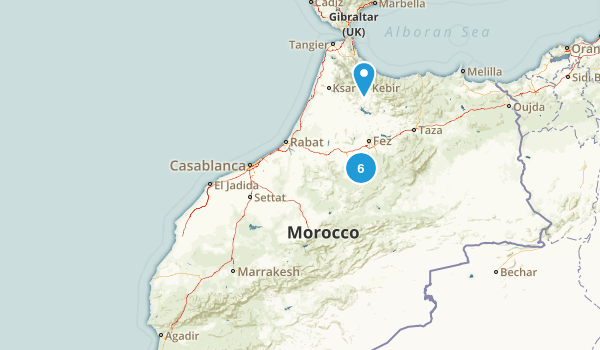 Marrakech - Tensift - Al Haouz, Morocco Birding Map
