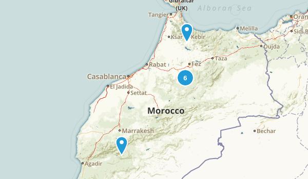 Marrakech - Tensift - Al Haouz, Morocco Hiking Map