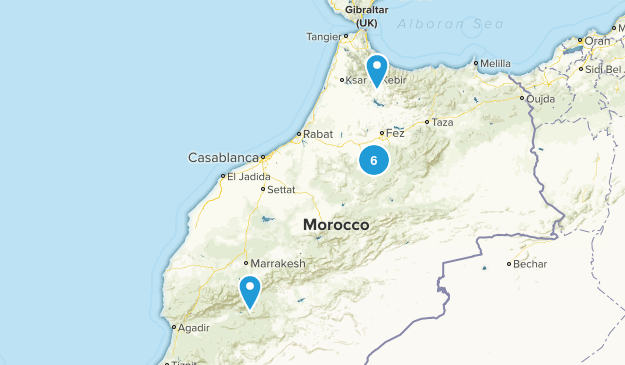 Marrakech - Tensift - Al Haouz, Morocco Hiking Map