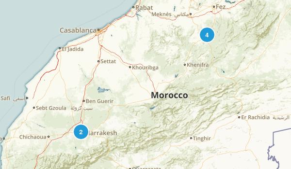 Marrakech - Tensift - Al Haouz, Morocco Kid Friendly Map
